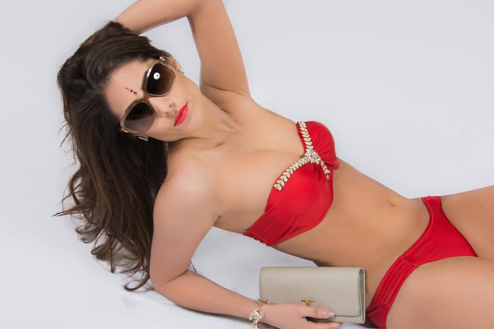 acadac9d5b red bandeau bikini set – Mohani