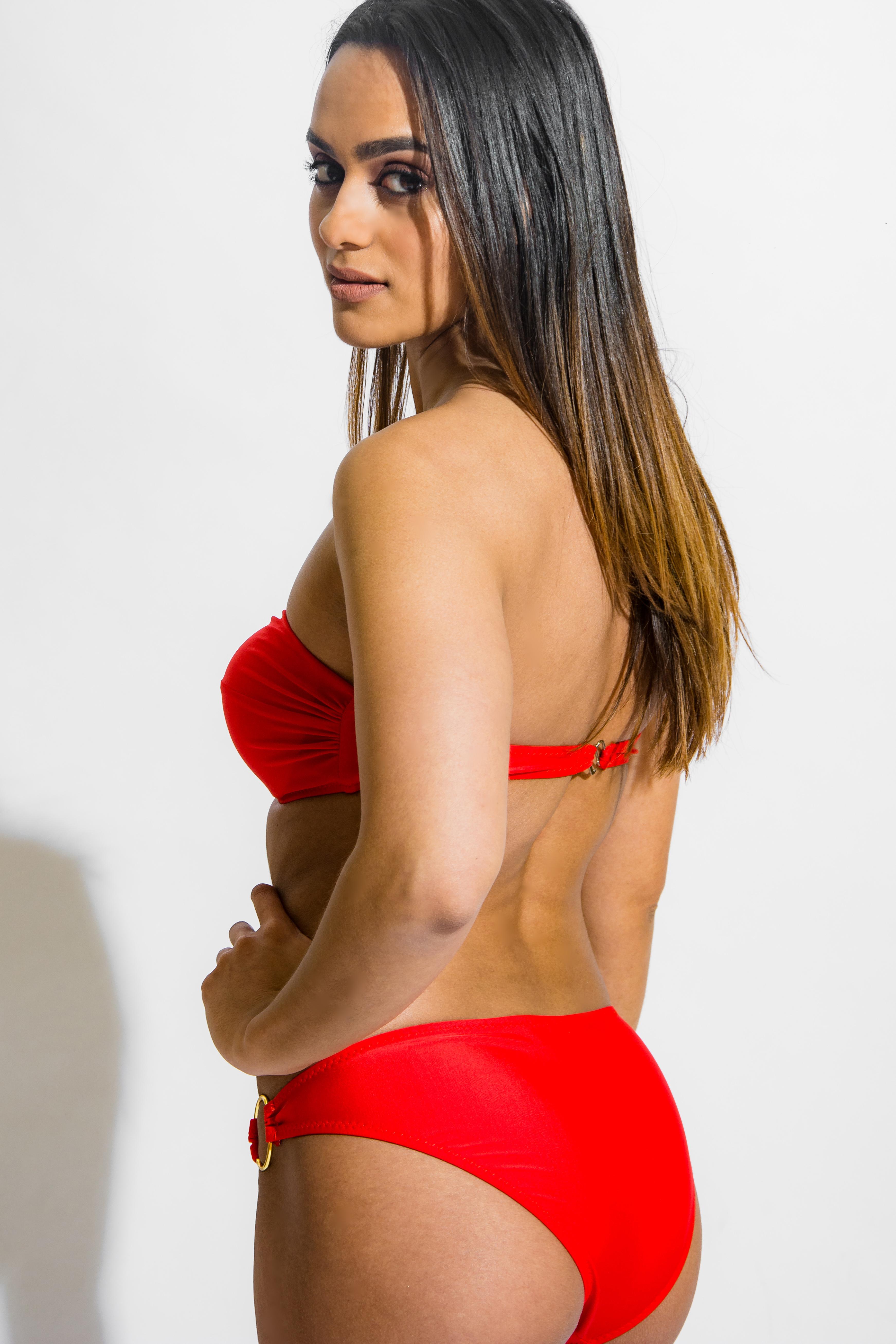 7414a22ab8 bright red strapless bikini set with embellishment – Mohani