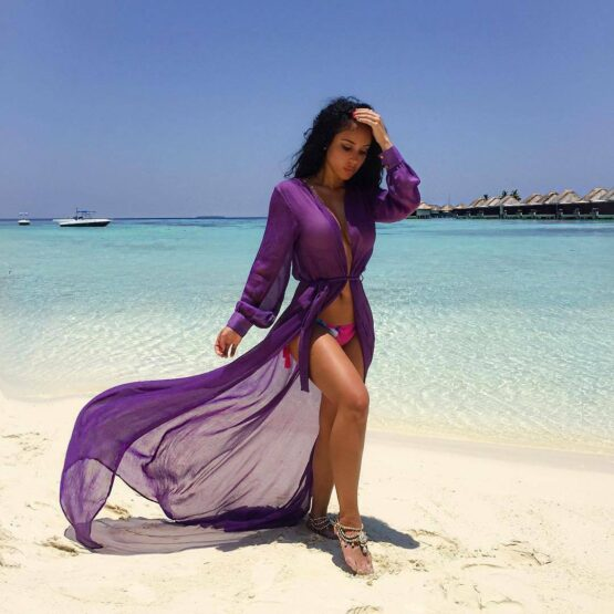 purple beach cover